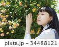 女子高生 花 高校生の写真 34488121