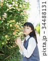 女子高生 花 高校生の写真 34488131