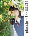 女子高生 花 高校生の写真 34488134