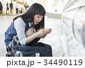 女子高生 カプセルトイ ガチャガチャの写真 34490119