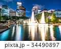 《東京都》丸の内・和田倉噴水公園の夜景 34490897