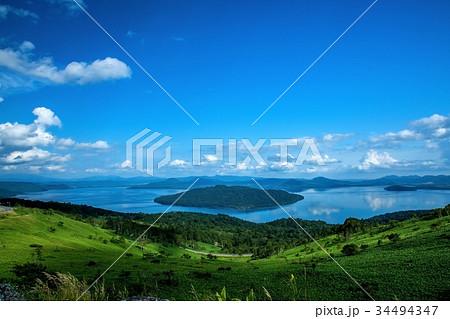 美幌峠展望台からの絶景 屈斜路湖 34494347