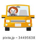運転 女性 車のイラスト 34495638