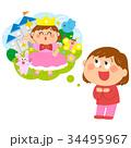 人物 子供 夢のイラスト 34495967