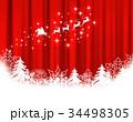 クリスマス サンタクロース 雪の結晶のイラスト 34498305