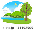 自然 風景 景色のイラスト 34498505