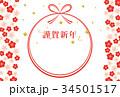年賀状 ベクター 水引のイラスト 34501517