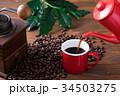 コーヒーカップ コーヒー豆 コーヒーの写真 34503275