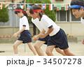 運動会で走る小学生 34507278