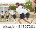 運動会で走る小学生 34507281