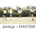 運動会で走る小学生 34507306