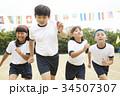 運動会で走る小学生 34507307