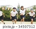運動会で走る小学生 34507312
