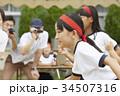 運動会で走る小学生 34507316