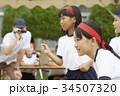 運動会で走る小学生 34507320