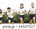 運動会で走る小学生 34507327
