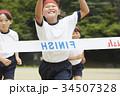 運動会で走る小学生 34507328