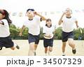 運動会で走る小学生 34507329