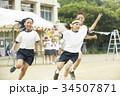 運動会のリレー選手 34507871