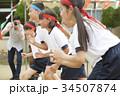 運動会で走る小学生 34507874