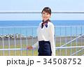 笑顔の女性のポートレート 34508752