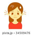 目 女性 かゆみのイラスト 34509476