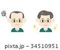 男性 薄毛 悩みのイラスト 34510951