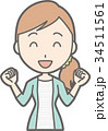 人物 女性 若いのイラスト 34511561