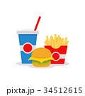 ハンバーガー フレンチ フランス語のイラスト 34512615