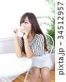 女性 若い カフェの写真 34512957