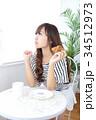 女性 若い カフェの写真 34512973