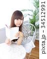 女性 若い カフェの写真 34512991