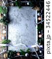 クリスマスツリーと銀色のオーナメント フレーム 34522446