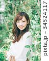 女性 ヘアスタイル 笑顔の写真 34524117
