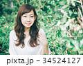 女性 ヘアスタイル 笑顔の写真 34524127