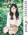 女性 ヘアスタイル 笑顔の写真 34524130