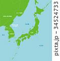 地図 / 北朝鮮と日本 極東地域 34524733