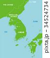 北朝鮮と周辺国地図 34524734