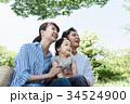 家族 ピクニック 3人 34524900
