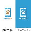 ロゴ ペット 愛玩動物のイラスト 34525240