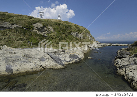 三浦半島剣崎、ベット島から見た剱崎灯台 34525472