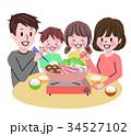 鍋を囲む家族 34527102