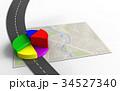 地図 ナビ ナビゲーションのイラスト 34527340
