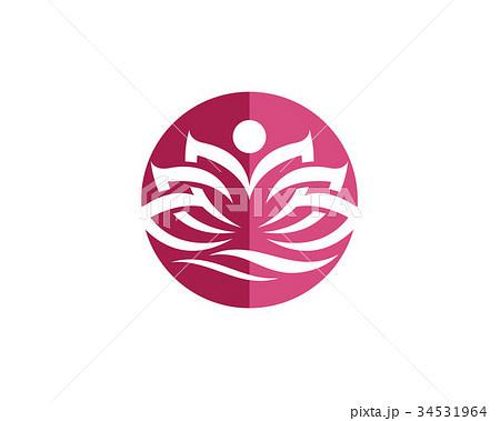 beauty lotus logo templateのイラスト素材 34531964 pixta