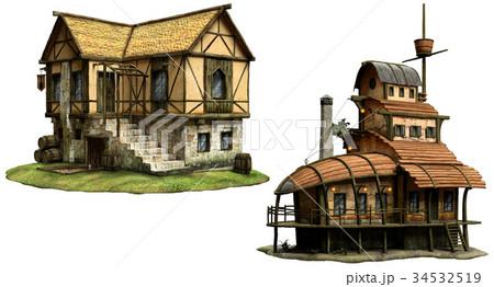 Fantasy tavern buildings 34532519