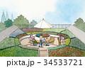 屋上庭園 花壇 34533721