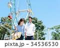 男女 カップル 遊園地 34536530