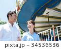 男女 カップル 遊園地 34536536