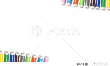 Colored markers isolated on the white background. 34536796