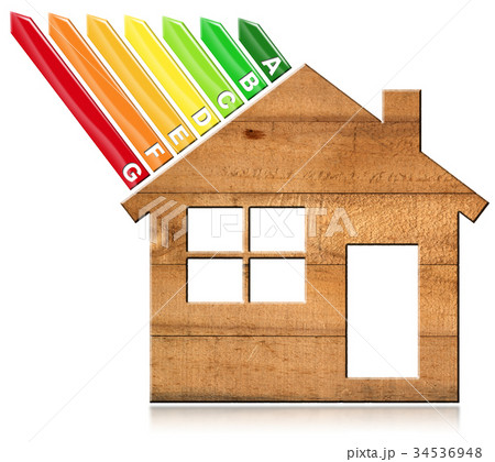 Energy Efficiency - Wooden Houseの写真素材 [34536948] - PIXTA